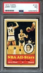 1973 TOPPS 100 JERRY WEST PSA NM 7