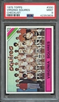 1975 TOPPS 330 VIRGINIA SQUIRES CHECKLIST PSA MINT 9