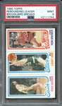 1980 TOPPS REBOUNDING LEADER BROWN,BIRD,BREWER PSA MINT 9