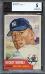1953 TOPPS 82 MICKEY MANTLE BVG EX 5