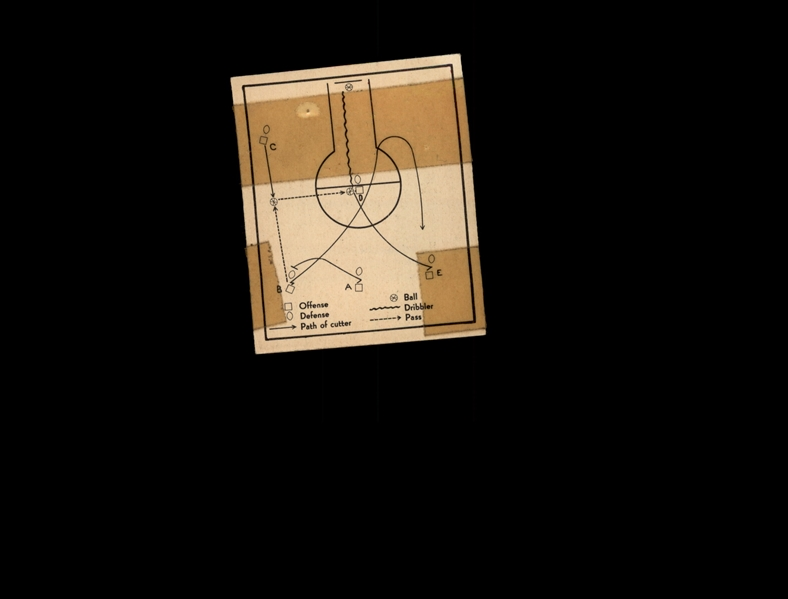 1948 Bowman 23 Basketball Play/Double cut off post POOR #D1,007001