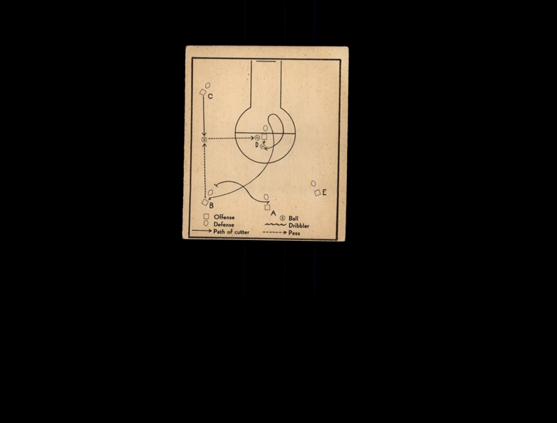 1948 Bowman 17 Basketball Play/Single cut VG #D1,009109