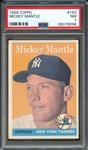 1958 TOPPS 150 MICKEY MANTLE PSA NM 7