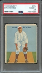 1933 GOUDEY 114 LUKE SEWELL PSA GOOD+ 2.5