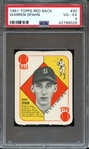 1951 TOPPS RED BACK 30 WARREN SPAHN PSA VG-EX 4