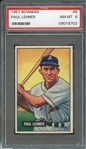 1951 BOWMAN 8 PAUL LEHNER PSA NM-MT 8