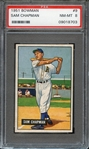 1951 BOWMAN 9 SAM CHAPMAN PSA NM-MT 8