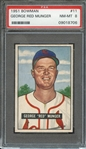 1951 BOWMAN 11 GEORGE RED MUNGER PSA NM-MT 8