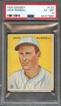 1933 GOUDEY 123 JACK RUSSELL PSA EX-MT 6
