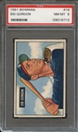 1951 BOWMAN 19 SID GORDON PSA NM-MT 8