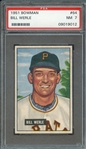 1951 BOWMAN 64 BILL WERLE PSA NM 7