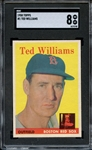 1958 TOPPS 1 TED WILLIAMS SGC NM-MT 8