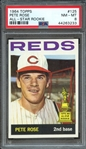 1964 TOPPS 125 PETE ROSE ALL-STAR ROOKIE PSA NM-MT 8