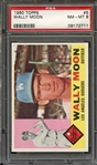1960 TOPPS 5 WALLY MOON PSA NM-MT 8