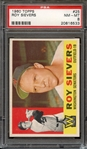 1960 TOPPS 25 ROY SIEVERS PSA NM-MT 8