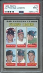 1970 TOPPS 70 AL PITCHING LEADERS PSA MINT 9
