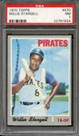 1970 TOPPS 470 WILLIE STARGELL PSA NM 7