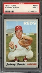 1970 TOPPS 660 JOHNNY BENCH PSA NM 7