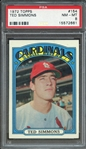 1972 TOPPS 154 TED SIMMONS PSA NM-MT 8