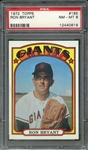 1972 TOPPS 185 RON BRYANT PSA NM-MT 8