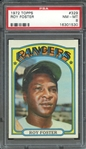 1972 TOPPS 329 ROY FOSTER PSA NM-MT 8