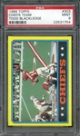 1986 TOPPS 303 CHIEFS TEAM TODD BLACKLEDGE PSA MINT 9