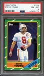 1986 TOPPS 374 STEVE YOUNG PSA NM-MT 8