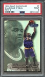 1998 FLAIR SHOWCASE 7 SHAQUILLE ONEAL ROW 3 PSA MINT 9