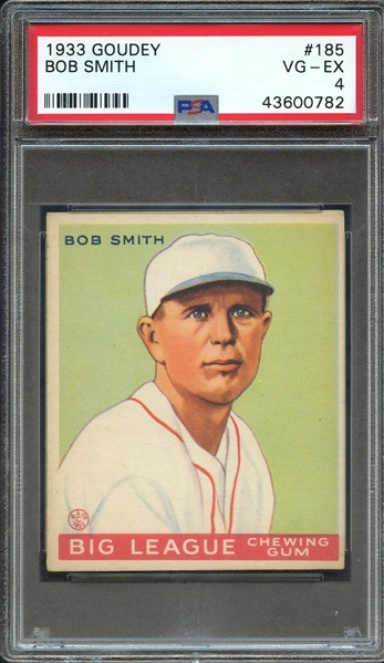 1933 GOUDEY 185 BOB SMITH PSA VG-EX 4