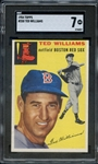 1954 TOPPS 250 TED WILLIAMS SGC NM 7